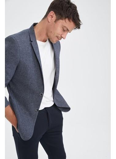 DeFacto Slim Fit Basic Blazer Ceket Hardal